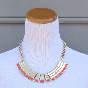 Nefertiti Necklace in Pink Coral