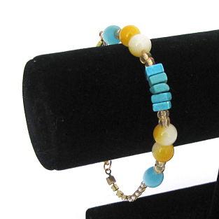 Blue Blazed Bracelet Close Up