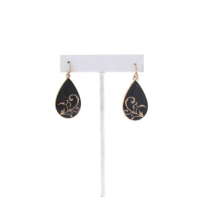 Gilded Earrings in Black