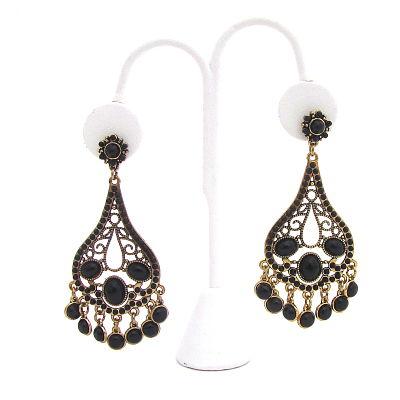 Majestic Earrings in Black