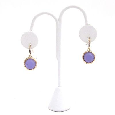 Round We Go Earrings in Purple