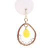 Dream Catcher Earrings in Yellow Close Up
