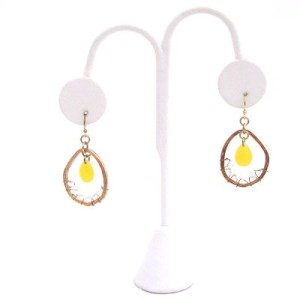 Dream Catcher Earrings in Yellow
