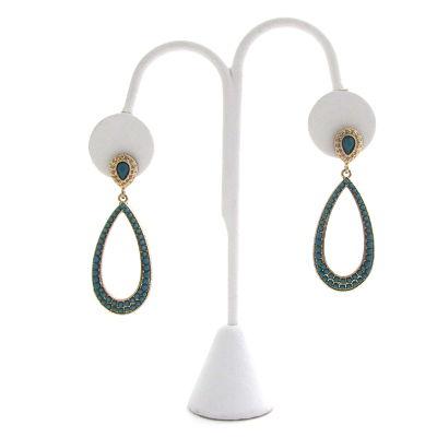 Last Teardrop Earrings in Turquoise