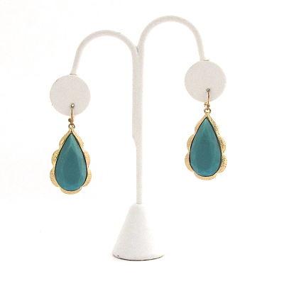 Turquoise Teardrops Earrings
