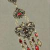 Draught of Vintage Earrings in Red & Tan