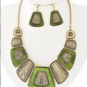 Tartaruga Necklace in Green