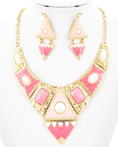 Aztec Necklace in Pink