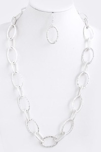 Chain of Fools Necklace in Matte Silver