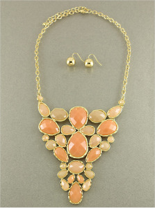 Petals in the Wind Necklace in Peach