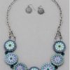 Will It Go Round In Circles Necklace in Blue