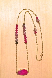 Paint It Pink Druzy Necklace