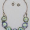 Will It Go Round In Circles Necklace in Green/Purple