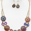 Wheel of Fortune Necklace in Multi Colors