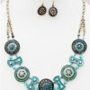 Wheel of Fortune Necklace in Turquoise