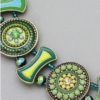 Wheel of Fortune Necklace in Green/Yellow (close up)