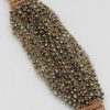 Cluster Seed Bead Bracelet in Brown