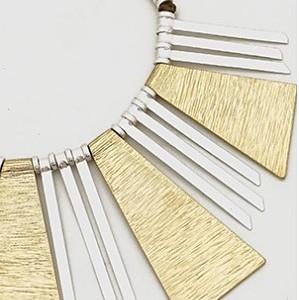 Geometric Aztec Necklace (close up)