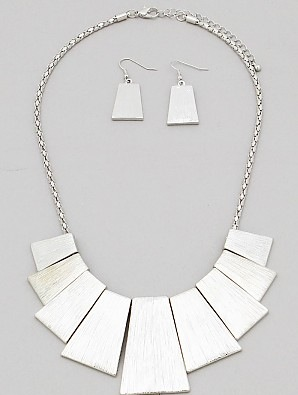 Painted Silver Necklace