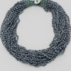 Cluster Seed Bead Necklace in Grey
