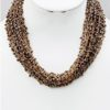 Cluster Seed Bead Necklace in Brown