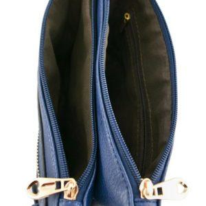 Buckle Accent Messenger Bag (inside)