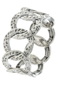 Linked To You Bracelet in Hammered Silver