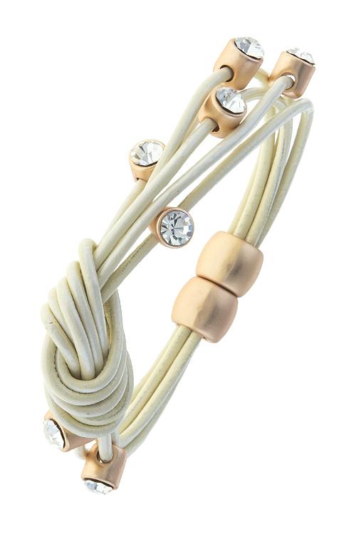 Knot Now Honey Bracelet in Ivory