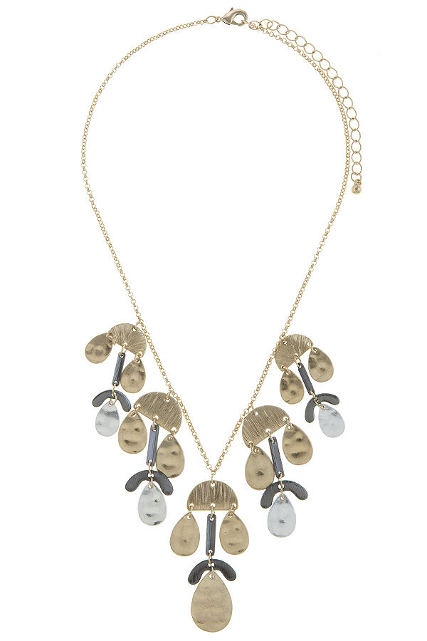Adamaris Necklace in Gold Tone, Silver Tone, and Hematite