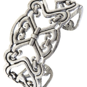 Fancy Filigree Cuff in Antique Silver