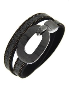 Buckle Up Bracelet in Gray