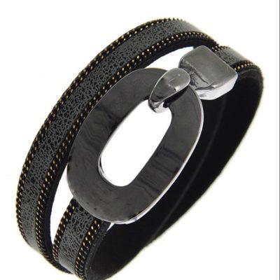 Buckle Up Bracelet in Gray