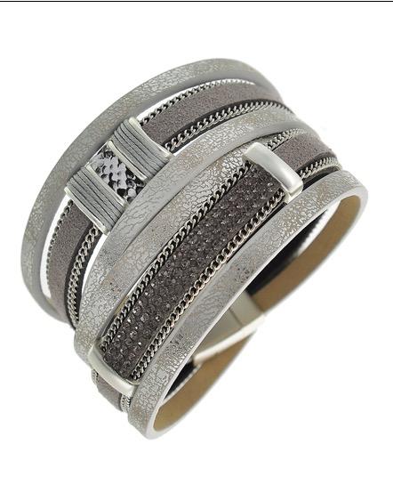 Leatherette Wrap Bracelet