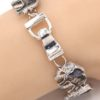 Parade of Elephant Bracelet in Antique Silver Tone