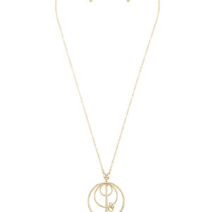 Bar None Necklace in Gold Tone