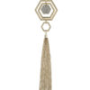 Put A Hex On It Necklace in Gold Tone
