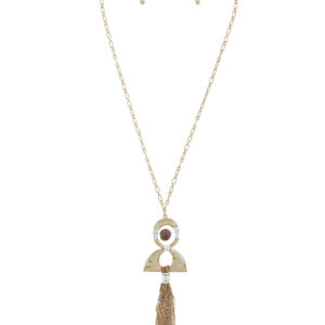 Bead Your Tassel Necklace in Antique Gold