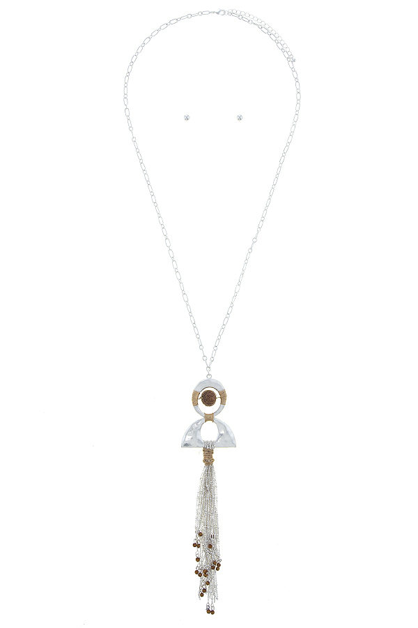 Bead Your Tassel Necklace in Antique Silver