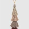 Ombre Threaded Tassel Necklace in Plum