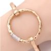 Circle of Trust Bracelet in Hammered Gold Tone