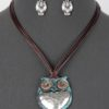 Give A Hoot Necklace in Patina/Silver Tone
