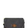 Zipper Flap Messenger Bag in Grey