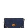 Zipper Flap Messenger Bag in Navy