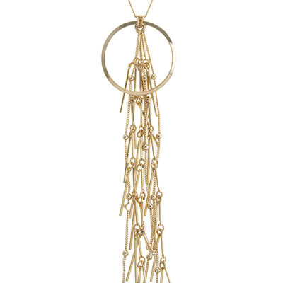Aether Tassel Necklace in Gold Tone