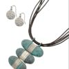 Wrapped Up Necklace in Blue Patina