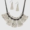 Artemis Necklace in Burnished Silver