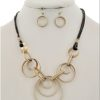 Revolution Necklace in Gold Tone