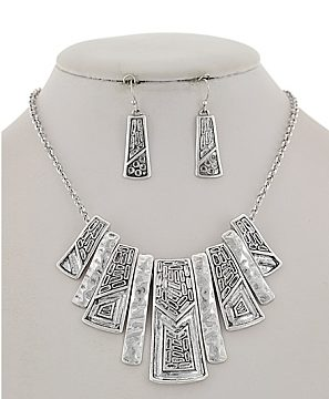 Kali Necklace in Burnished Silver Tone