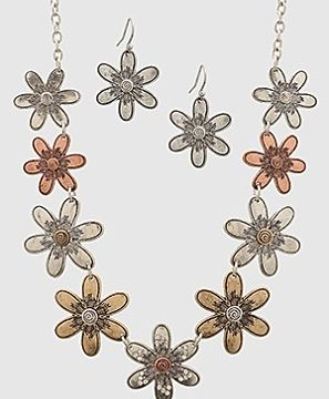 Flower Head Necklace
