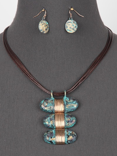 Wrapped Up Necklace in Patina